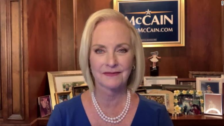 'We do need to be careful': Cindy McCain cautions Republicans as GOP considers Liz Cheney replacement