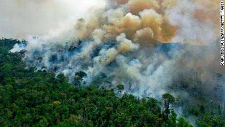 The Amazon burns in Para, Brazil, in August 2020.