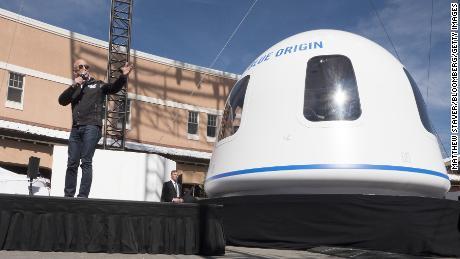 Jeff Bezos' blue origins to bid for the first space tourism flight