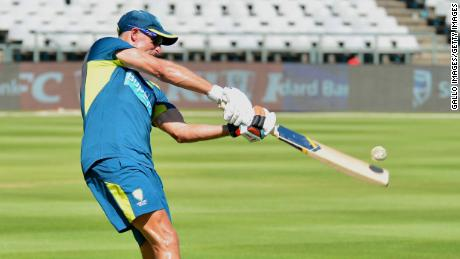 Michael Hussey (Team Mentor) during the Australian national cricket team training session and press conference at Newlands Cricket Stadium on February 25, 2020 in Cape Town, South Africa.