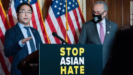 """Rep. Andy Kim (D-N.J), a former US diplomat, was restricted from working in South Korea. """"I was always told diversity is our strength and that's what we want to push forward to the world, but it doesn't feel that way from my experience,"""" he said."""