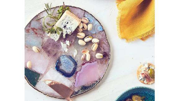 Anthropologie Composite Agate Cheese Board