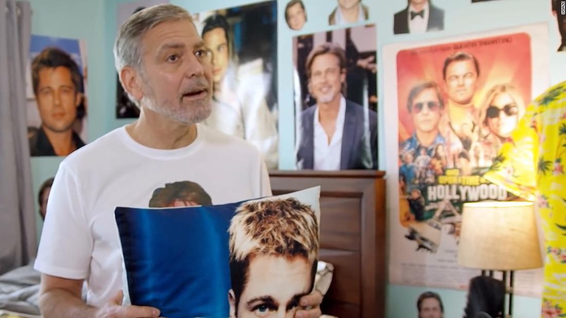 George Clooney is diehard Brad Pitt fan in hilarious ad