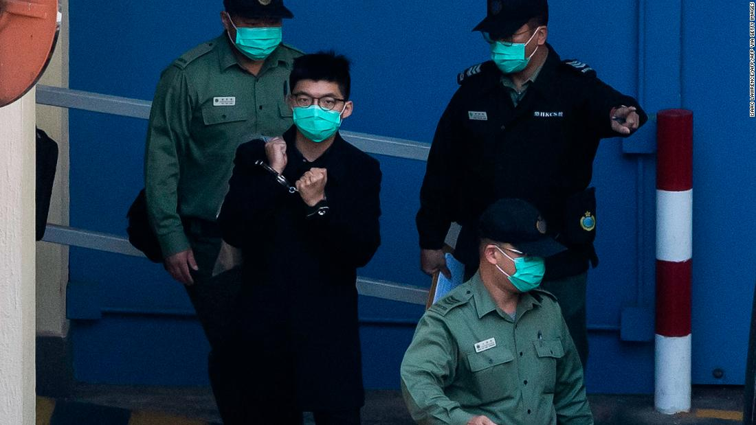 Hong Kong court jails activists over Tiananmen rally
