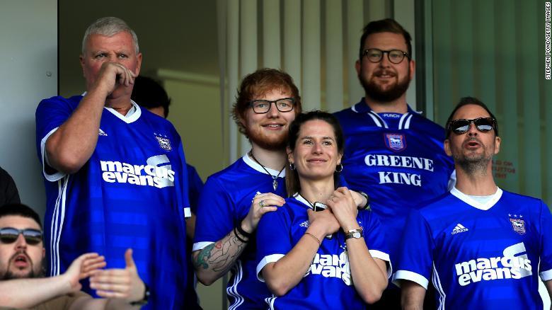 Superstar musician Ed Sheeran to sponsor boyhood club Ipswich Town