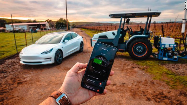 The Monarch tractor can provide farming data.