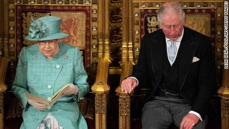 Prince Charles listens as Queen Elizabeth II delivers the Queen's Speech on December 19, 2019.
