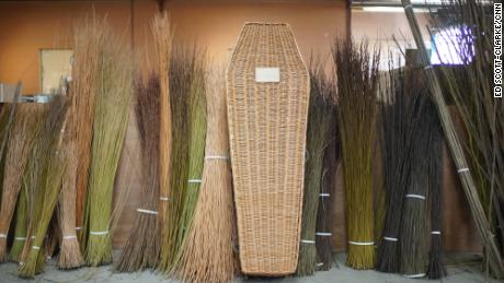 Musgrove Willow produces more than 100 coffins each week, made from willow grown in Somerset, England.