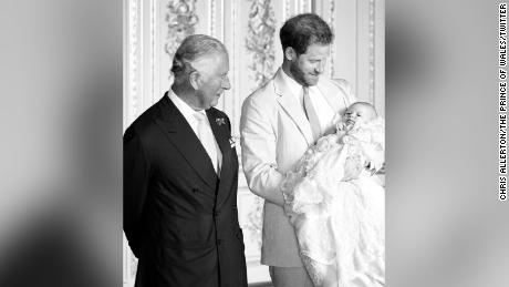 Prince Charles shared this snap of Harry and Archie on his grandson's second birthday.
