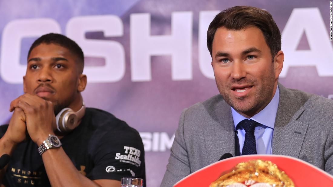 Eddie Hearn on the latest about Anthony Joshua vs Tyson Fury - CNN Video thumbnail
