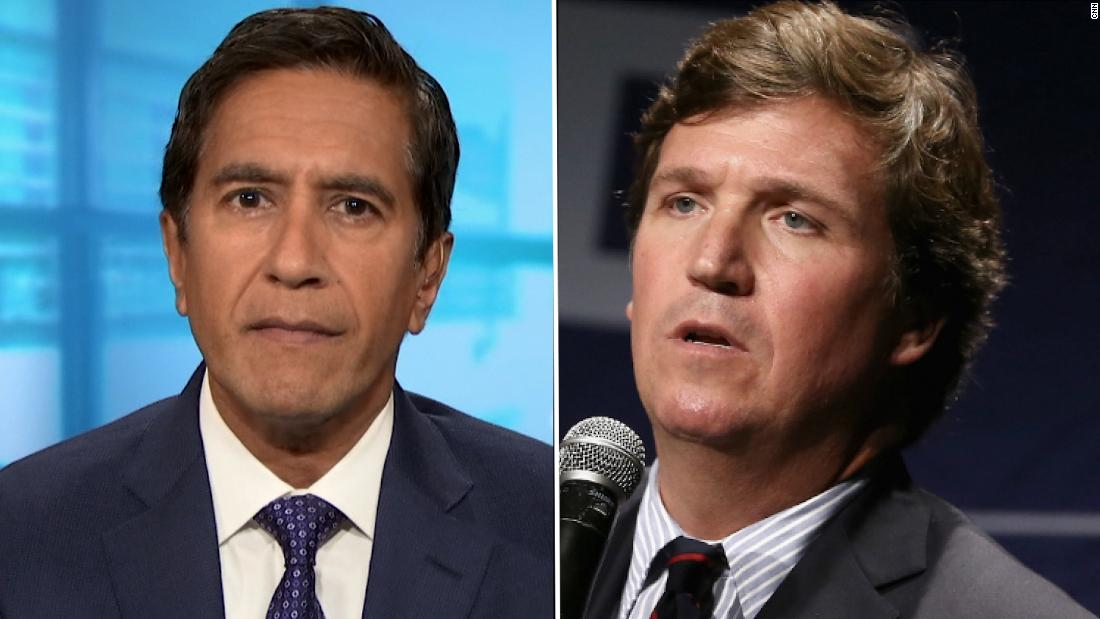 '100 percent false': Gupta fact checks Tucker Carlson's vaccine claim