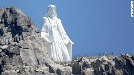 Butte Montana USA July 23 2018 Our Lady of the Rockies
