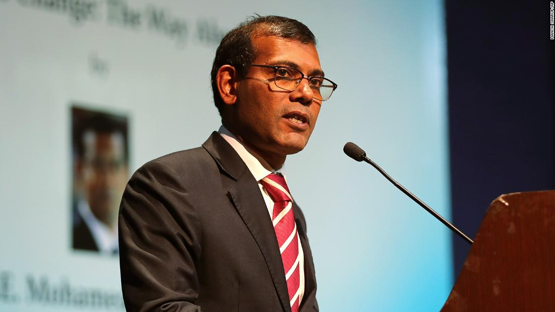 Former Maldives president treated for wounds after blast outside home
