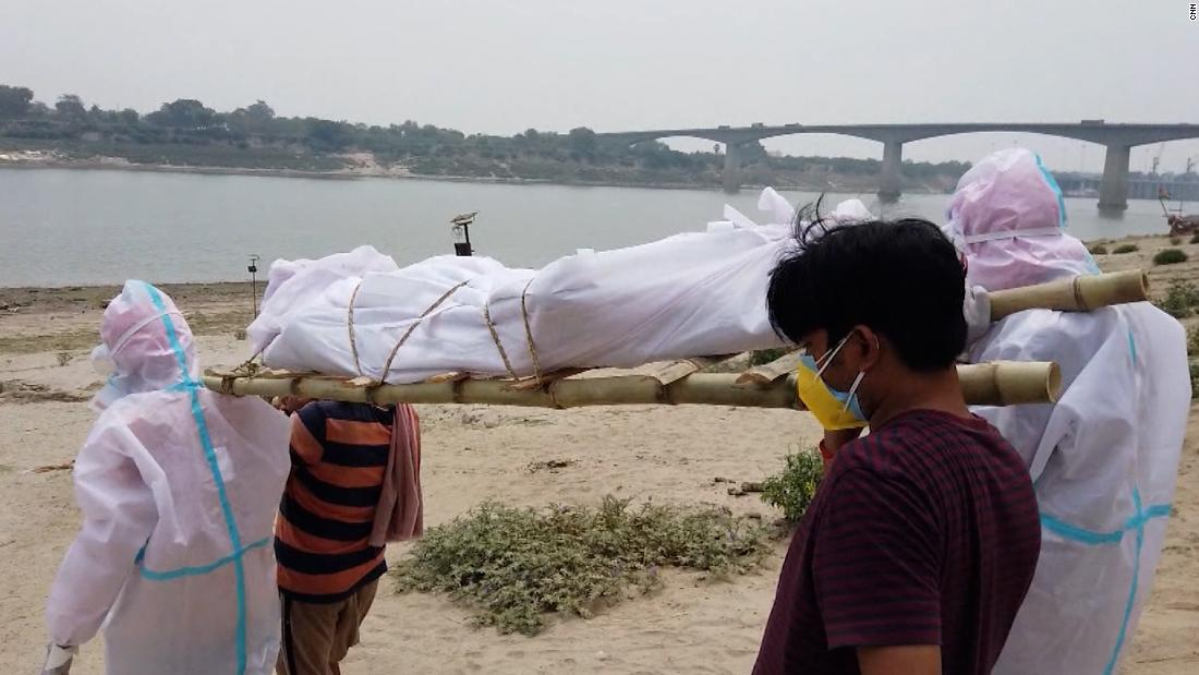 Watch CNN's report from makeshift crematorium in India