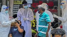 Sri Lanka has seen a steep spike in coronavirus cases since mid-April