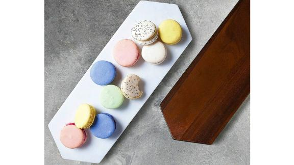 Libbey Urban Story Wood and Marble Flip Tray