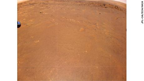 Ingenuity took this color image of Airfield B, its new landing site, during the mission's fourth flight on April 30.