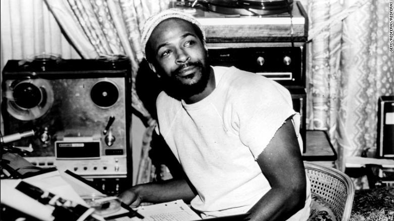 Portrait of Marvin Gaye in studio in 1971.  (Photo by Gems/Redferns)