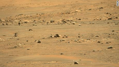 The Perseverance rover used its Mastcam-Z imager to take a photo of Ingenuity after it landed.