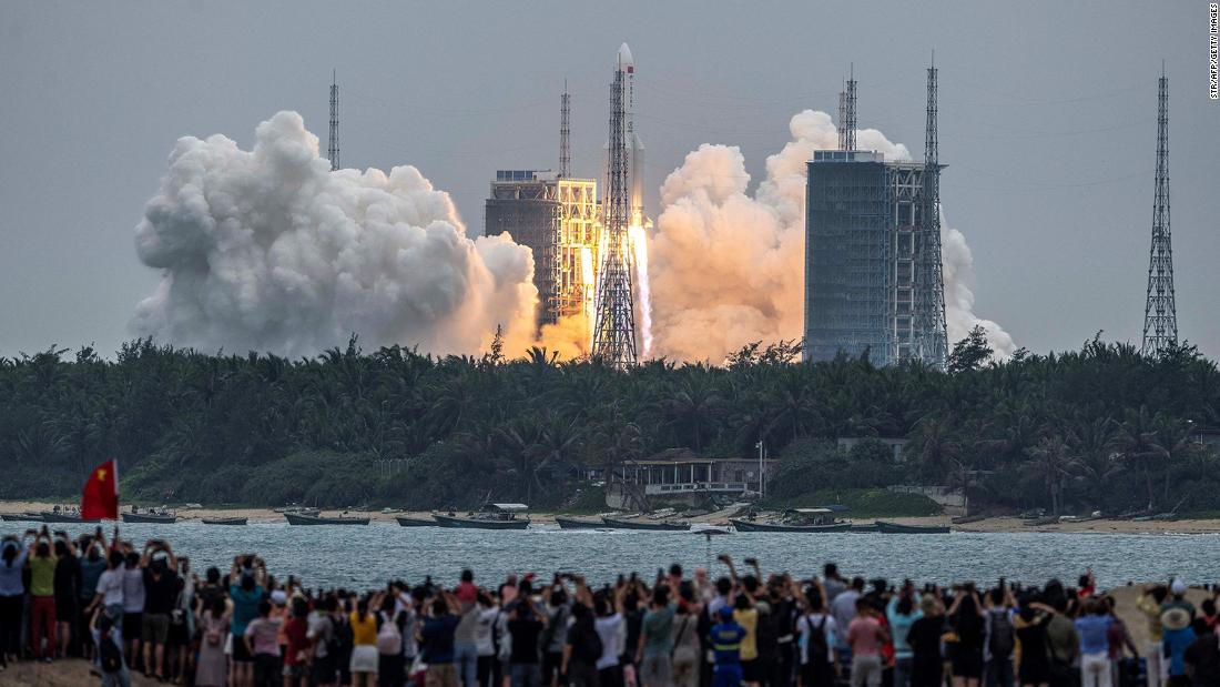 Most of the rocket burned up on reentering the atmosphere, China's space agency says. It was unclear if any debris had landed on the atoll nation.