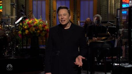 Elon Musk opens 'SNL' by telling his mother that he's gifting her dogecoin for Mother's Day