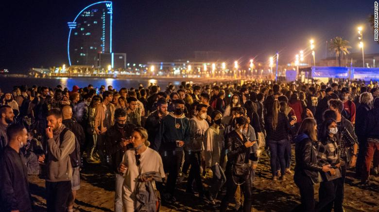 Hundreds party in Spain as coronavirus curfew ends in most of the country
