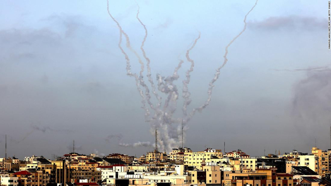 Israel launches airstrike after rockets fired from Gaza in day of escalation