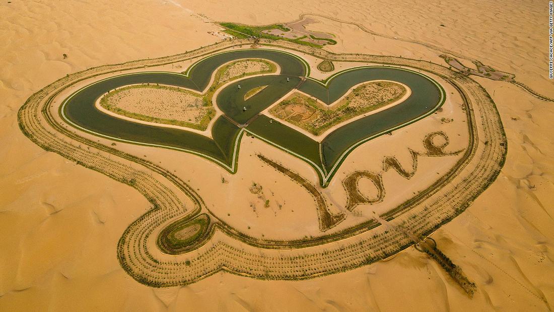 Love Lake: Heart-shaped lagoons link up in Dubai desert