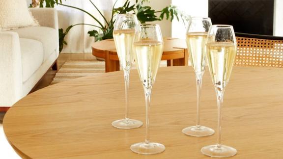 Italic Champagne Glasses, Set of 4