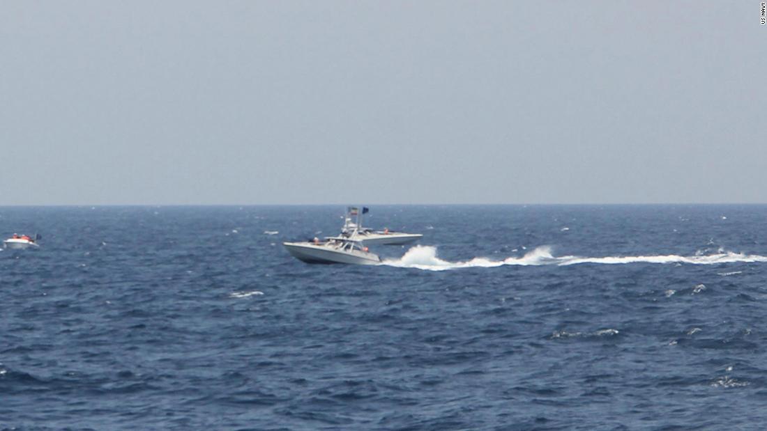 US Coast Guard ship fires dozens of warning shots at Iranian fast boats
