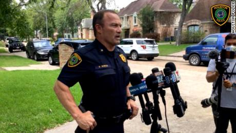 Houston police said the man who fled with the tigers.  But the animal is in a loose state.