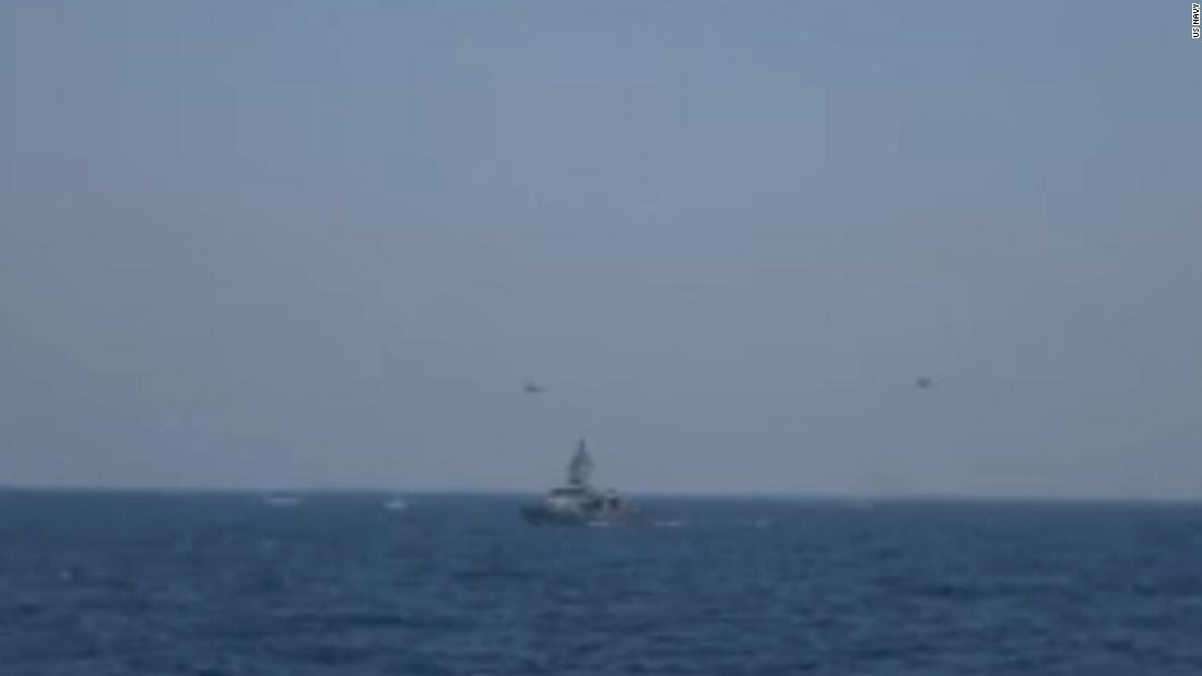 US Navy releases video of altercation with Iran in Strait of Hormuz
