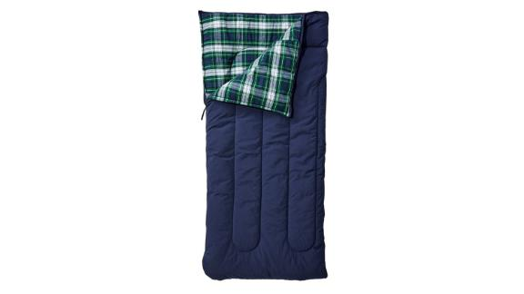 L.L.Bean Flannel-Lined Camp Sleeping Bag, 40°