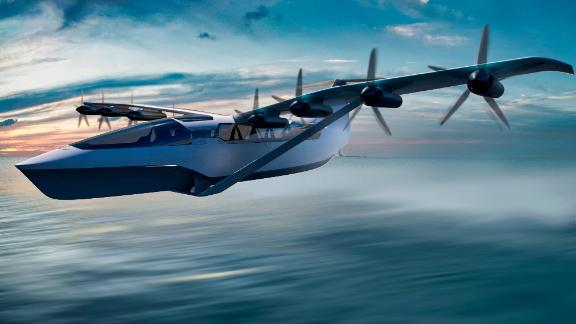 "Boston-based REGENT's ""seaglider"" is a mix between a boat and an aircraft with a top speed of 180 mph."