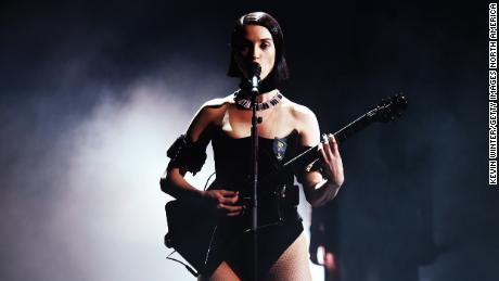 St. Vincent performs during the 61st Annual Grammy Awards at LA's Staples Center, February 10, 2019.