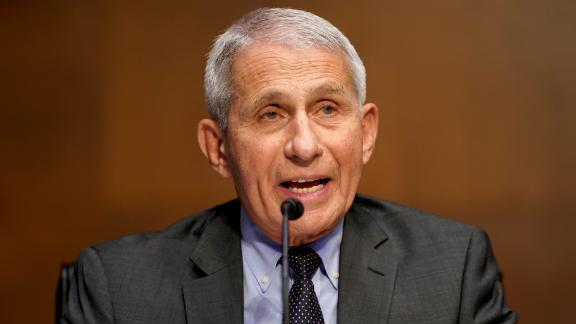WASHINGTON, DC - MAY 11: Dr. Anthony Fauci, director of the National Institute of Allergy and Infectious Diseases, gives an opening statement during a Senate Health, Education, Labor and Pensions Committee hearing to discuss the ongoing federal response to COVID-19 on May 11, 2021 in Washington, DC. (Photo by Greg Nash-Pool/Getty Images)