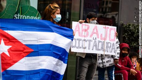 A protest in London expressing solidarity with Otero Alcantara.