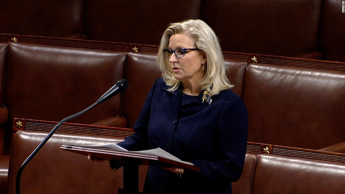 In a powerful speech, Liz Cheney shamed colleagues who will vote today to strip her of her No. 3 House GOP post, showing guts to speak truth to Trump's malevolent power