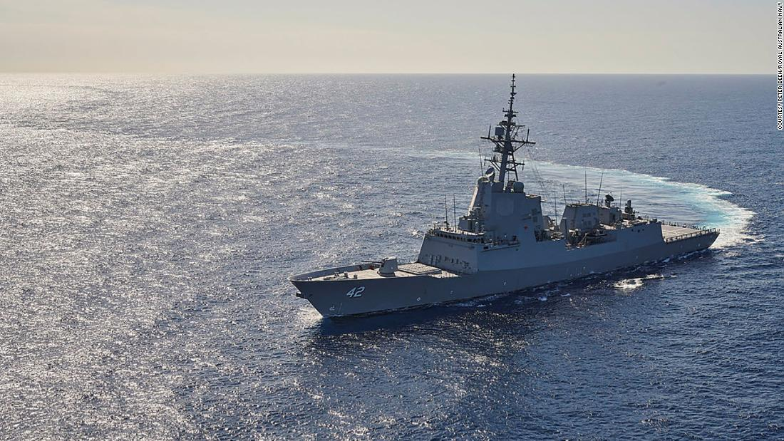 An Australian destroyer arrived in San Diego with 2 dead endangered whales stuck to its hull