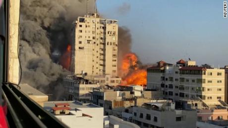 14-story building in Gaza collapses after Israeli airstrike - CNN Video