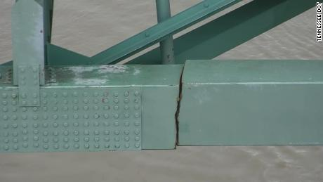 TDOT in May released photos of the crack that shut down the bridge.