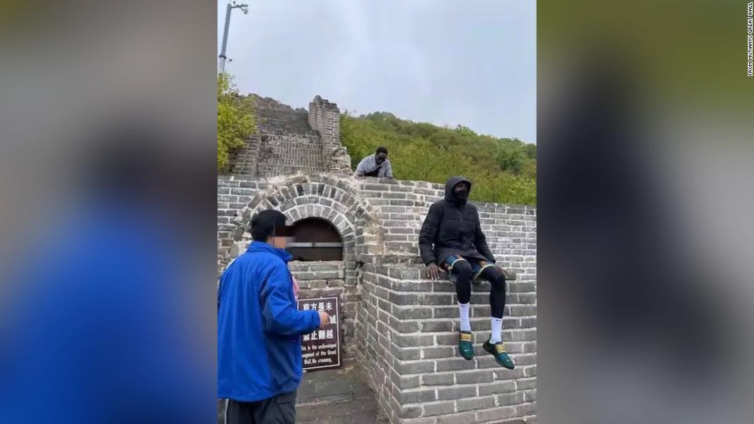 Two foreign tourists banned from China's Great Wall after trespassing on undeveloped section