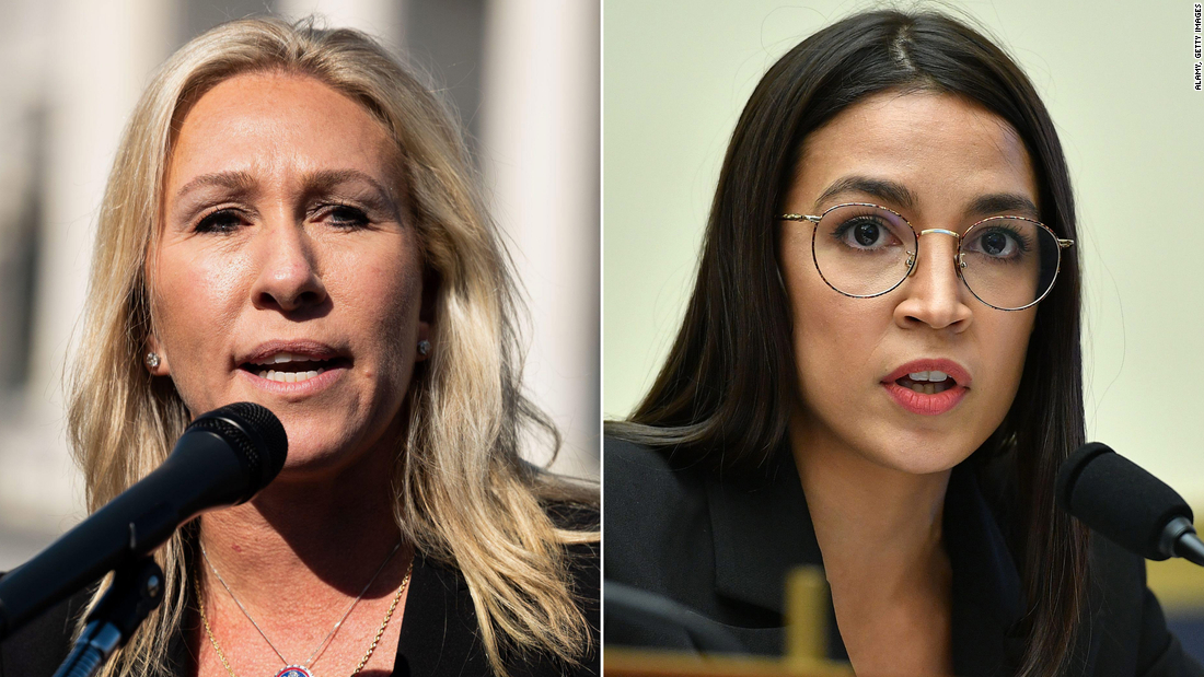 Marjorie Taylor Greene confronts Alexandria Ocasio-Cortez outside House chamber