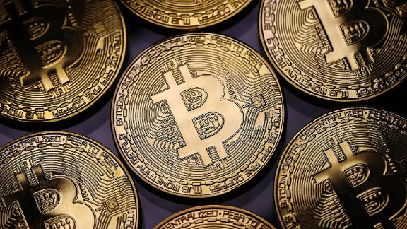 A visual representation of the digital Cryptocurrency, Bitcoin on December 07, 2017 in London, England.