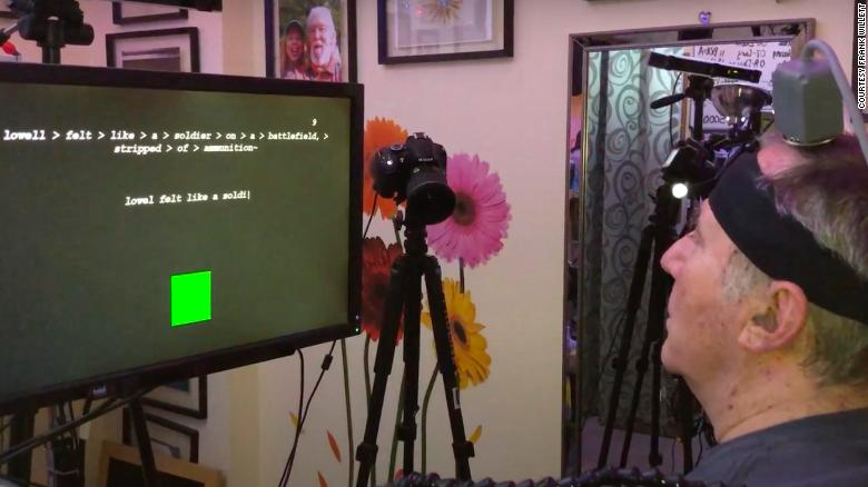 Paralyzed man uses his mind to form real-time sentences