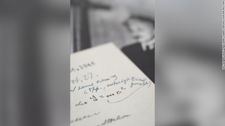Letter written by Einstein featuring his famous equation goes up for auction
