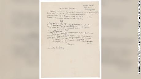 Brief von Einstein an Ludwik Silberstein aus dem Jahr 1946.