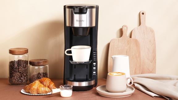 Sboly Single-Serve Coffee Maker Machine With Thermal Mug
