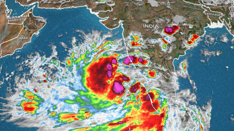 A rapidly developing tropical cyclone poses a significant threat to Northwest India and Pakistan