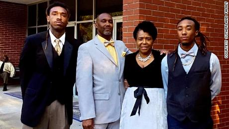 Jamal Sutherland, left, is seen in a family photo.